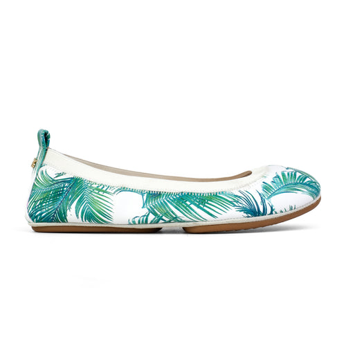Samara White Palm Print Leather