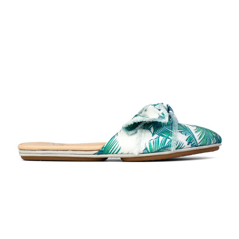 Viceroy White Palm Print Slide