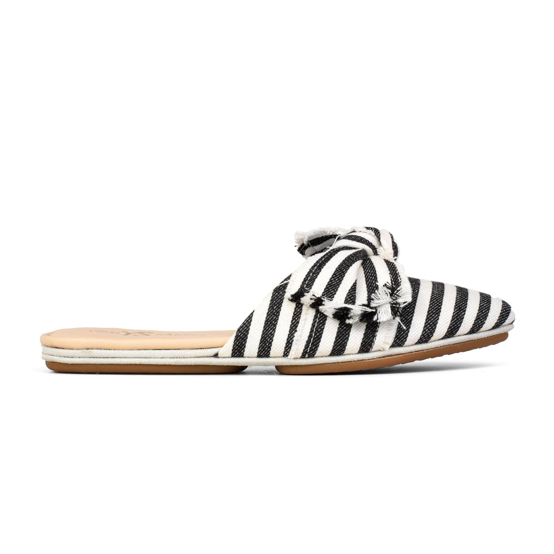 Viceroy Black Natural Woven Stripe Slide
