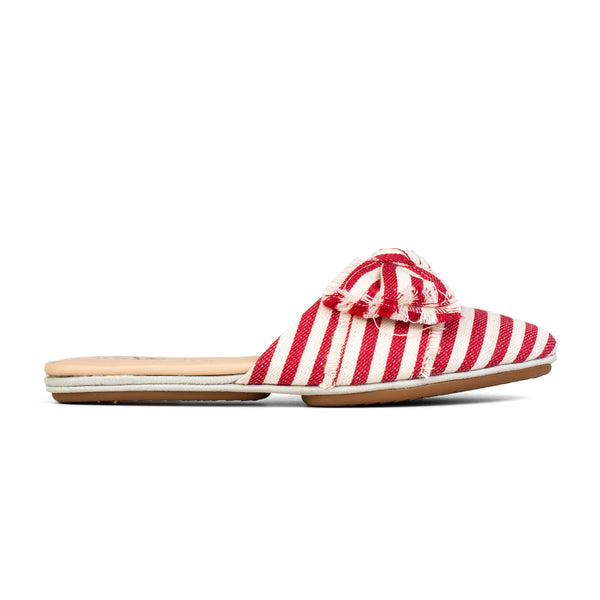 Viceroy Red Natural Woven Stripe Slide