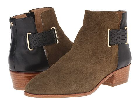 Drew Military/Black Ankle Bootie