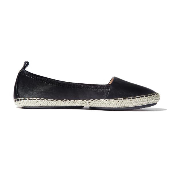Liv Black Lumiere Leather Espadrille