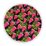 Retro Watermelon Round Towel