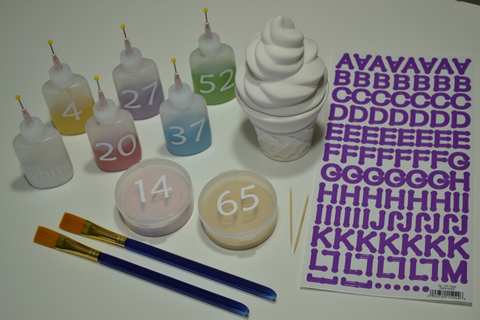 Ceramic Ice Cream Cone Box Painting Supplies
