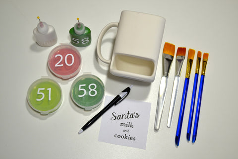 Santa's Milk and Cookies Ceramic and Paint Supplies