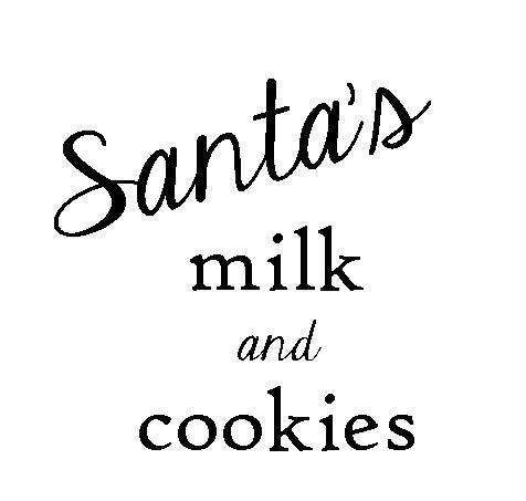 Santa's Milk and Cookies Ceramic Text