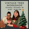 Sunday, October 18 Vintage Tree Workshop @ Polka Dot Pots Wisconsin Dells