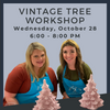 Wednesday, October 28 Vintage Tree Workshop @ Polka Dot Pots Wisconsin Dells