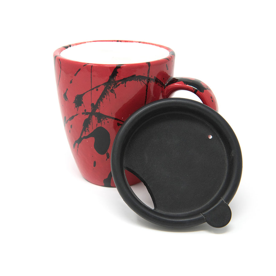 Splatter Mug with Lid
