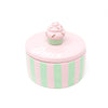 Round Jewelry Box with Cupcake Topper