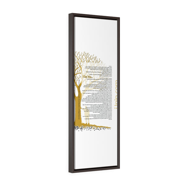 Copy of Vertical Framed Premium Gallery Wrap Canvas