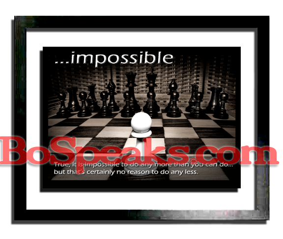 ...impossible (motivational print)