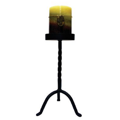 Wrought Iron 10 Inch Pillar Candle Stand