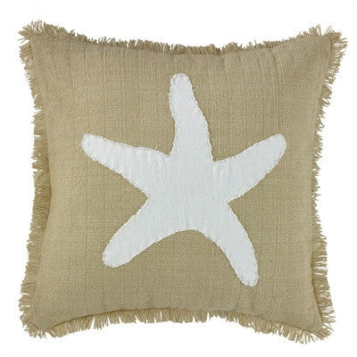 Starfish Applique Pillow Cover