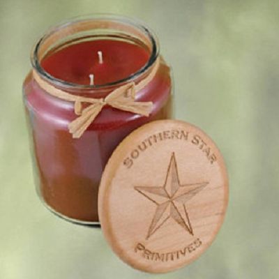 16 Oz Scented Jar Candle with Wooden Top