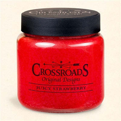 Crossroads Original Design Juicy Strawberry 16 ounce Scented Jar Candle