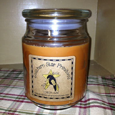 20 Ounce Pumpkin Pie Scented Apothercary Jar Candle with Glass Lid
