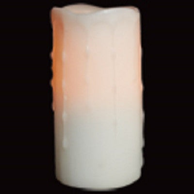 Battery Operated 3 x 8 Inch White Candles