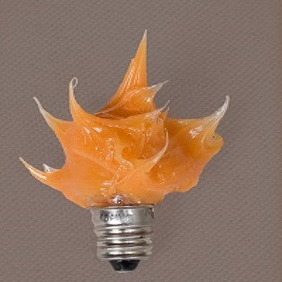 Small Silicone Campfire Bulbs ~ Candelabra Base ~ Orange