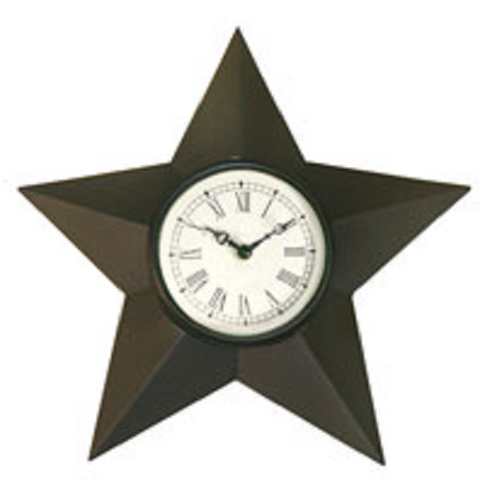 Barn Star Clock