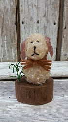 Battery Operated Dog On A Log Candle