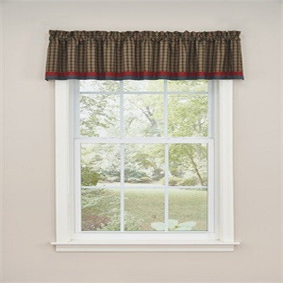 Cabin in the Pines Lined Border Valance