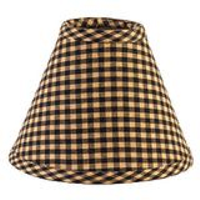 Six Inch Black Check Lamp Shade