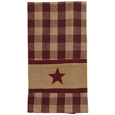 Cranberry Country Star Towel