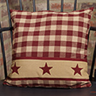 Cranberry Country Star Pillow