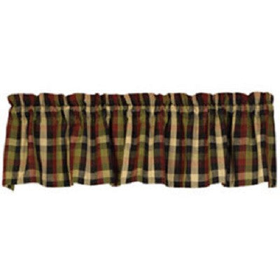 Saltbox Check Valance