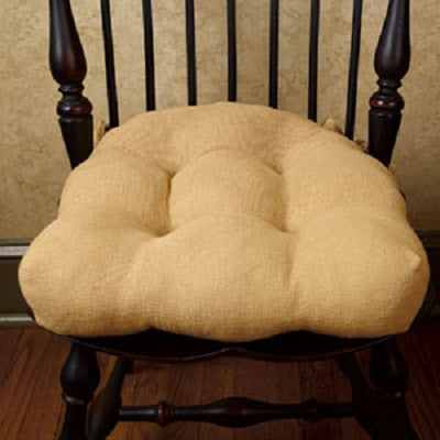 Cotton Burlap Chair Pad