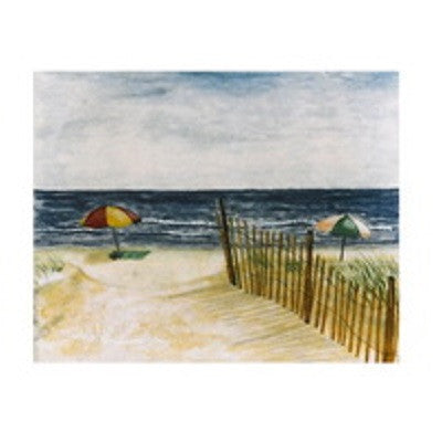 Beach With Umbrella Canvas Art