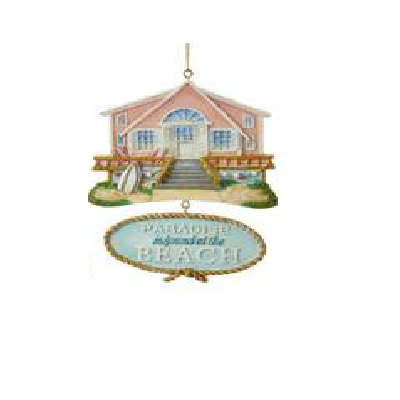 Kurt S. Adler Beach House With Dangle Ornament