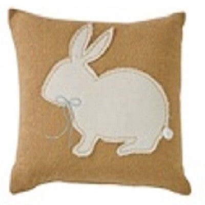 Beatrice Bunny Ten Inch Applique Pillow