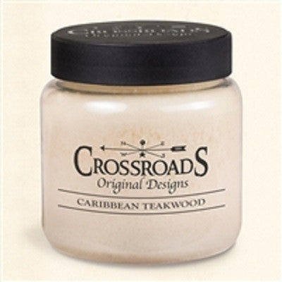 Crossroads Original Designs Caribbean Teakwood Scented Jar Candles
