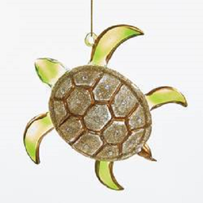 Kurt S. Adler Glass Sea Turtle Ornament