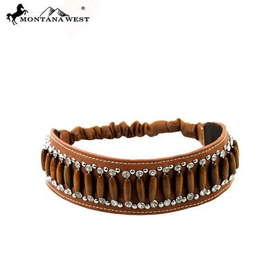 Montana West American Native Headband ~ Brown