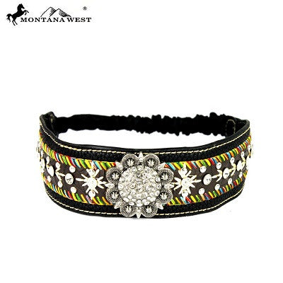 Montana West Embroidered Collection Headband ~ Black