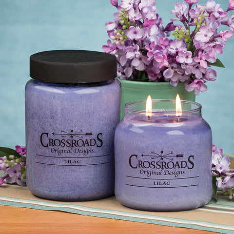 Crossroads Original Designs Lilac Scented Jar Candles