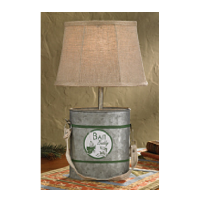 Minnow Bucket Lamp With Shade