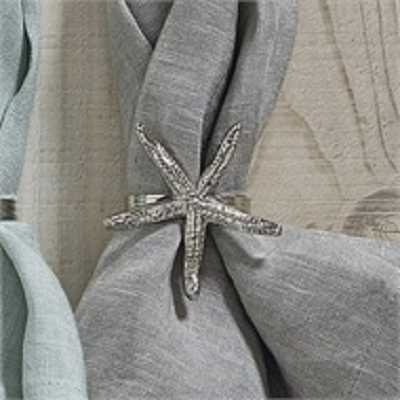 Starfish Nickel Napkin Ring