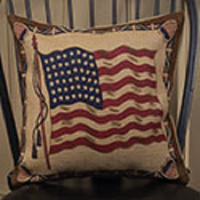 Ol' Glory Burlap Pillow ~ 16 Inches