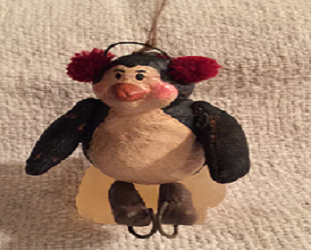 Penguin with Earmuffs Ornament by Vicky Jeans Creations