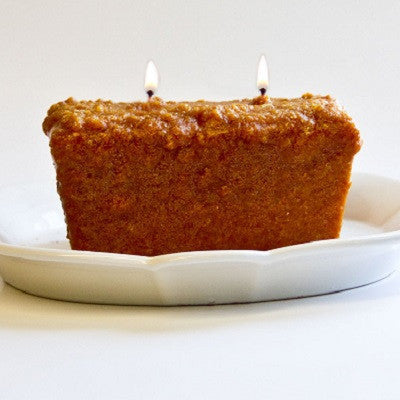Warm Glow Pumpkin Crumb Cake Scented Two Wick Loaf Candle