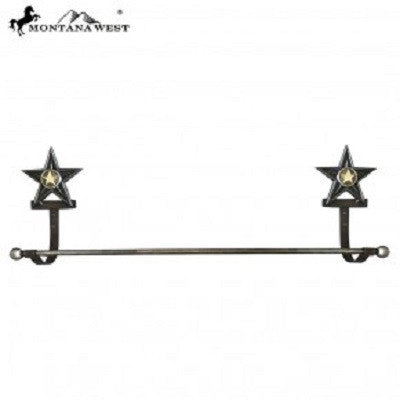 Montana West Western Metal Lonestar Towel Rack