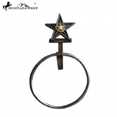 Montana West Western Lonestar Towel Ring