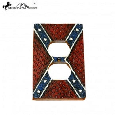 Montana West Rebel Flag Resin Outlet Cover