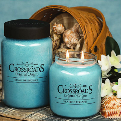 Crossroads Original Designs Seaside Escape Scented Jar Candles