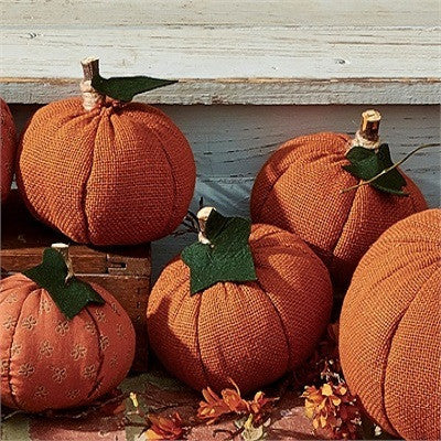 Small Burlap Pumpkins