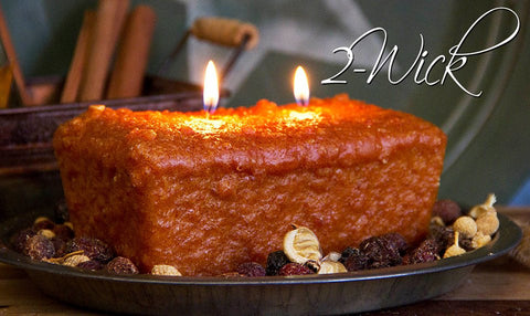 Warm Glow Scented Two Wick Loaf Candles